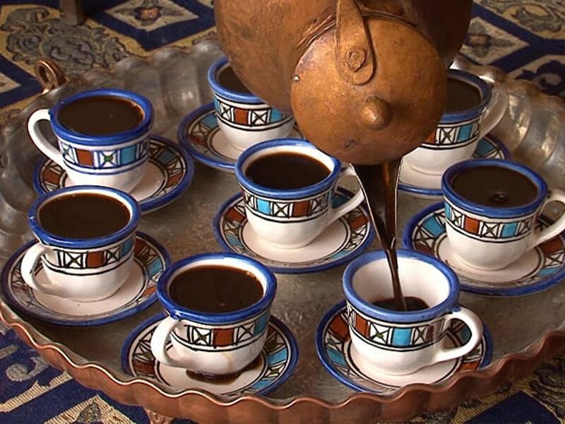قهوه یزدی در مراسم ختم