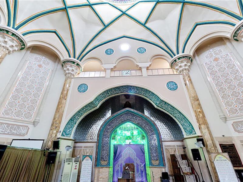 مسجد امام جعفر صادق واقع در میدان فلسطین